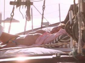 Bo Derek  topless in boat