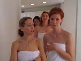 Kristin Davis nude sauna Sex and the City