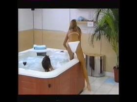 Katy Hill & Linda Lusardi Black & White Bikini's