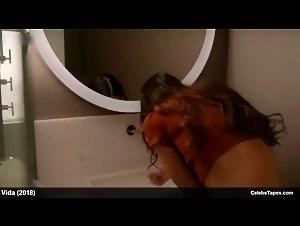 Melissa Barrera Nude and Lesbian Sex in Vida (2018)